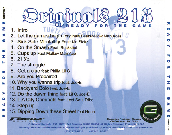 Original 213's - Ready For The Game Chicano Rap